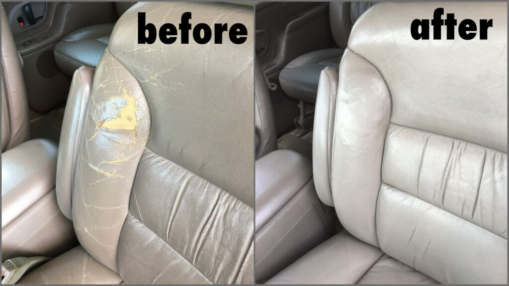 Auto Interior Leather Repair Re, How To Fix Small Hole In Leather Car Seat