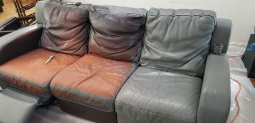 Slate Gray Conditioning Leather Finish, Brown Leather Dye For Furniture