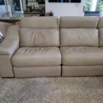 Picture of leather couch stains correct with Custom Color Rub n Restore