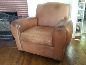 Picture of aniline leather chair