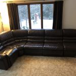Leather couch after being restored.