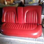 Picture of 1959 Jaguar MKIX leather seat after restoration