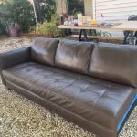 Leather sectional before