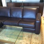Picture of leather couch after refinishing with Rub n Restore leather paint