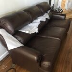 Photo of mahogany brown leather couch after Rub n Restore