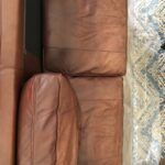 Picture of faded leather couch
