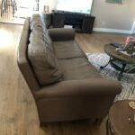 Picture of refinished couch after RubnRestore