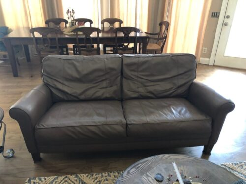 Picture of leather couch after Rub and Restore
