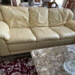 Picture of beige leather sofa