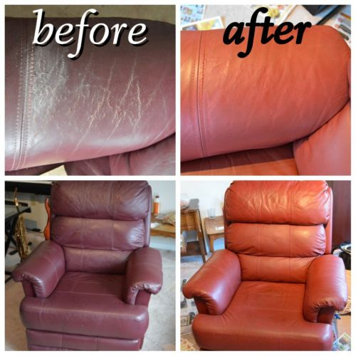 collage-lazboy-recliner-before-after-leather-restoration