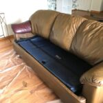 Picture of couch after Cognac Rub n Restore
