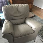 Picture of leather chair changed to taupe with Rub n Restore