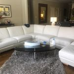 Picture of leather sectional restored with Marine White Rub n Restore