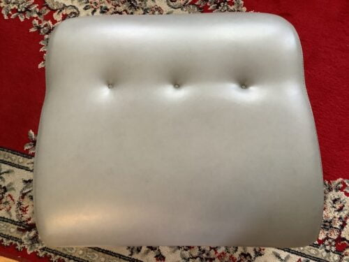 Picture of leather ottoman restored with RubnRestore