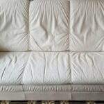Picture of leather couch restored with Marine White RubnRestore