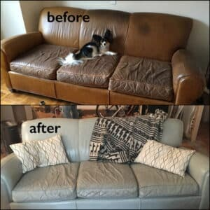 Ash Furniture Dye Before and After
