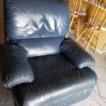 Picture of blue leather recliner chair