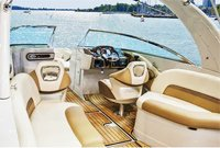 Picture of marine vinyl boat upholstery and interior