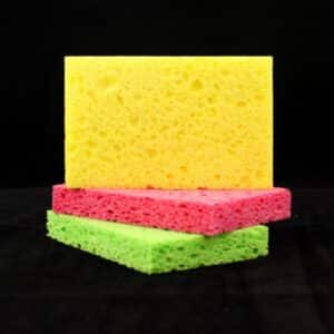 Sponge for applying colors and finishes.