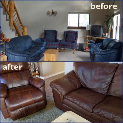 cherrywood leather furniture restoration