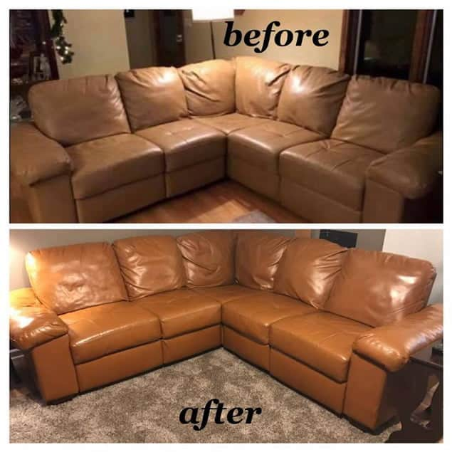 Cognac Leather Sofa