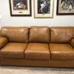 Photo of leather couch after restoration with RubnRestore