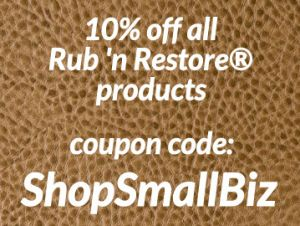 Infographic of 10% coupon code for shopping with Rub n Restore instead of Amazon, Walmart, Home Depot