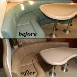 Before and after leather furniture restore