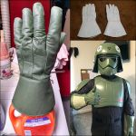 Star wars costume dyed with custom green color