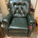 Picture of green tufted leather chair