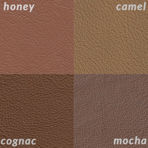 swatch color grid honey camel cognac mocha