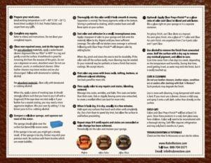 Thumbnail of Rub n Restore instructional brochure
