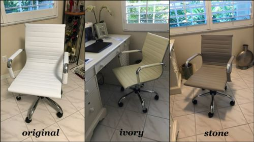 Ivory to stone color change on office chair
