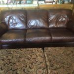 Picture of discolored leather couch