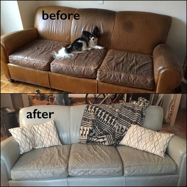leather-couch-dyed-before-after-ash-color