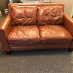 Leather loveseat after using mix of Rust and Clear Rub n Restore