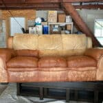Natuzzi leather couch after Leather Max had been applied