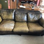 Picture of leather sofa before Rub n Restore