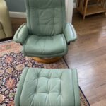 Picture of stressless chair and ottoman restored with Rub n Restore