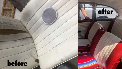 VW interior that has been restored with vinyl dye.