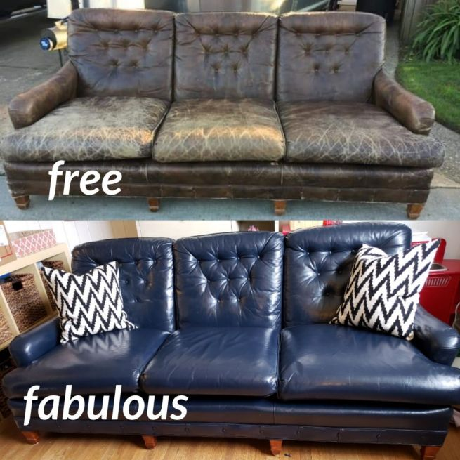 Navy Blue Vinyl Leather Dye, Leather Furniture Paint