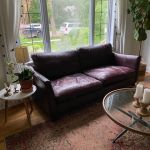 Picture of purple leather couch