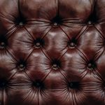 Picture of tufted leather upholstery