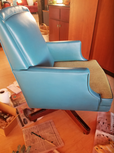 Turquoise Vinyl & Leather Finish photo review